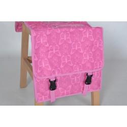 New Looxs dubbele fietstas roze vlinder