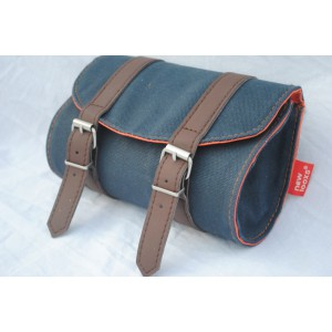 New Looxs Mondi Zadeltas Canvas Blue